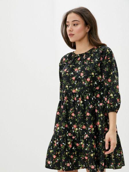 Платье прямое черное Defacto