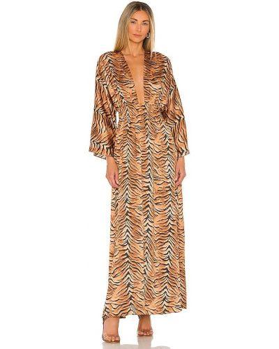 Платье с открытой спиной - коричневое Misa Los Angeles