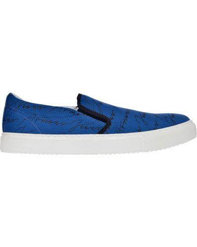 Слипоны голубой Armani Jeans