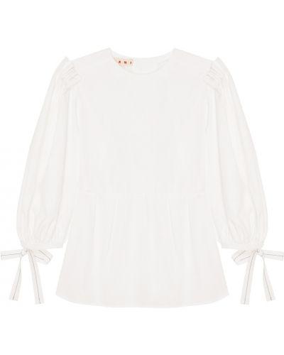 Блузка классическая с пышными рукавами Marni