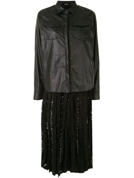 Классическое платье на пуговицах со складками с воротником Goen.j