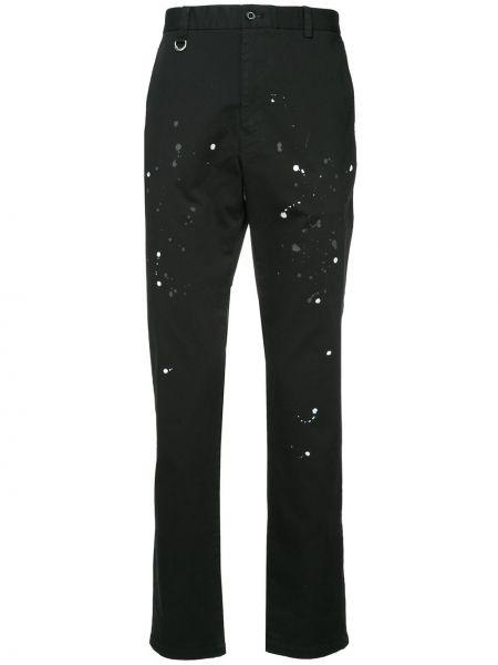 Черные прямые брюки с поясом на пуговицах новогодние Guild Prime