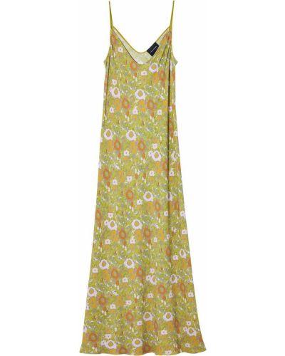 Платье трапеция - зеленое Marc Jacobs
