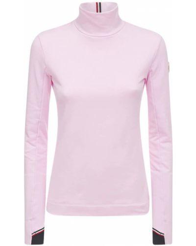 Розовый трикотажный топ Moncler Grenoble
