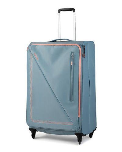 Niebieska walizka duża materiałowa American Tourister