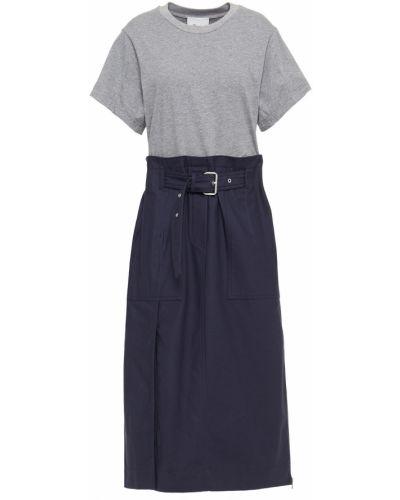 Ватное трикотажное платье миди с поясом 3.1 Phillip Lim