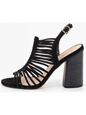 Босоножки черные на каблуке Respect