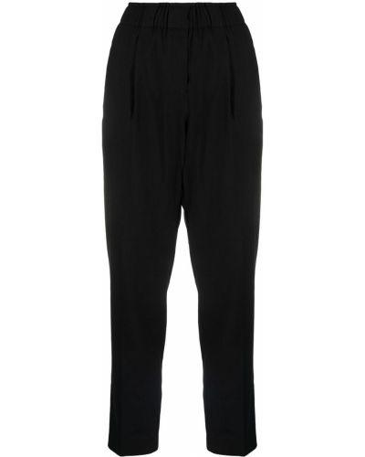 Прямые черные укороченные брюки с карманами Antonelli