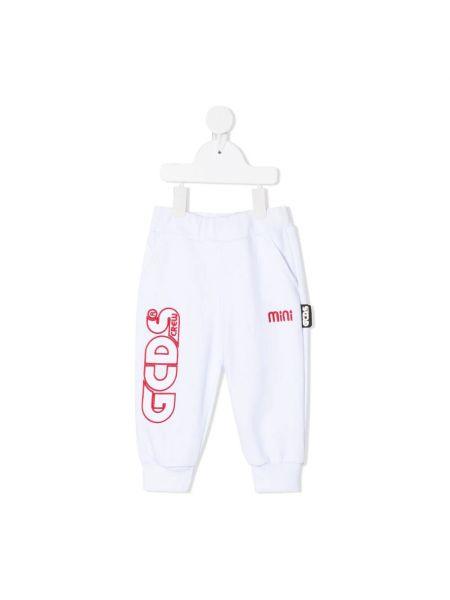 Białe joggery Gcds
