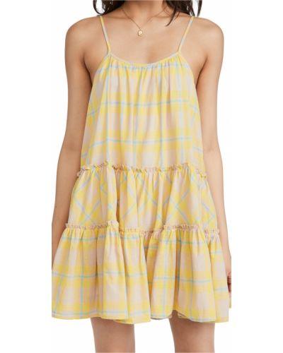 Платье в клетку - желтое D.ra