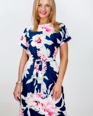 Летнее платье с цветочным принтом с поясом Belirini
