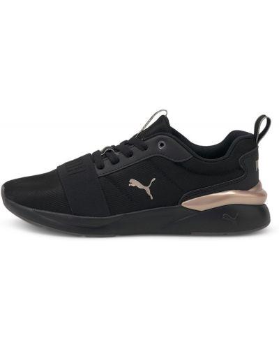Черные кроссовки с принтом Puma