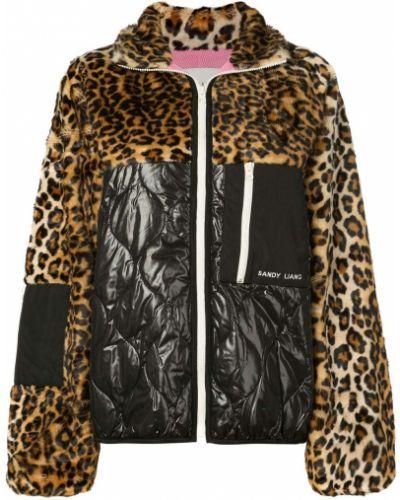 Нейлоновая черная длинная куртка Sandy Liang