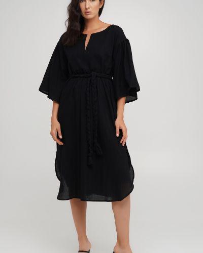 Черное платье свободного кроя Anna Yakovenko