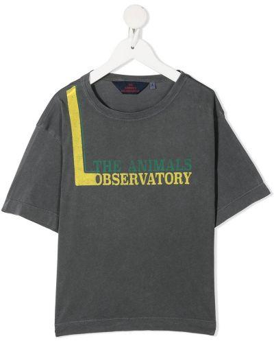 T-shirt bawełniany krótki rękaw z printem The Animals Observatory