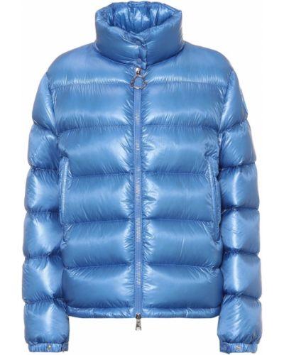 Зимняя куртка синий пуховый Moncler