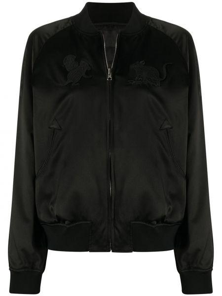 Прямая черная куртка на молнии круглая Comme Des Garçons Noir Kei Ninomiya