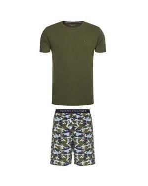 Zielona piżama bawełniana z printem Tommy Hilfiger
