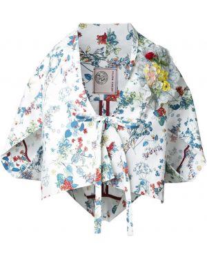 Кимоно белый с цветочным принтом Antonio Marras