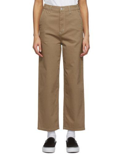 Beżowy bawełna spodni spodnie rozciągać Carhartt Work In Progress