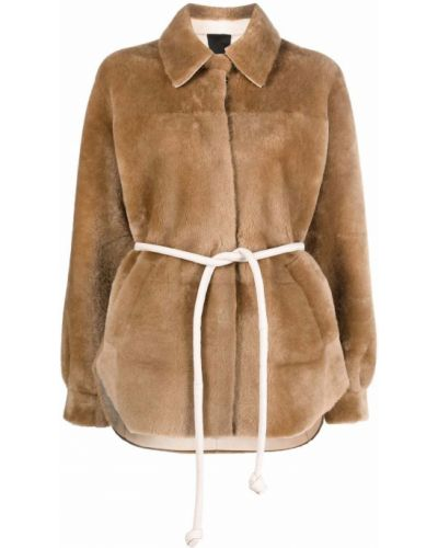 Коричневая куртка классическая Blancha