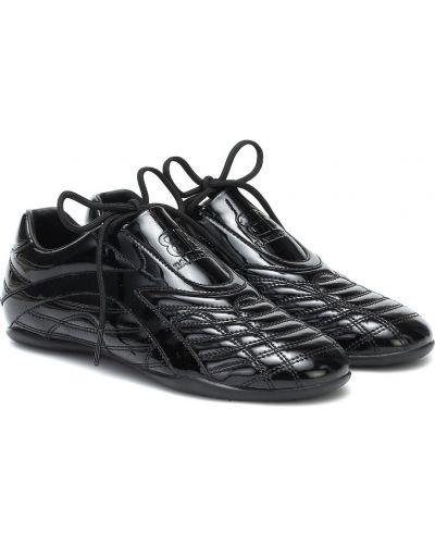Черные кожаные кроссовки Balenciaga