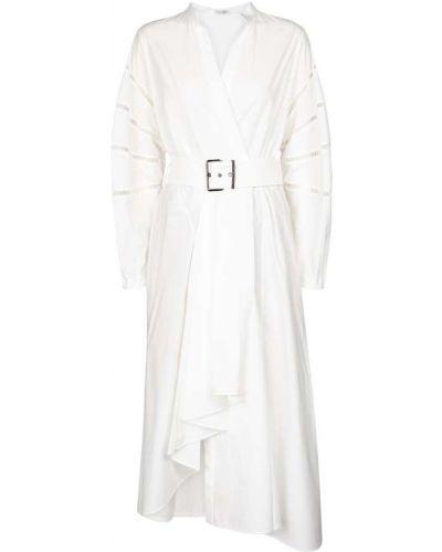Ватное белое вечернее платье из штапеля Brunello Cucinelli