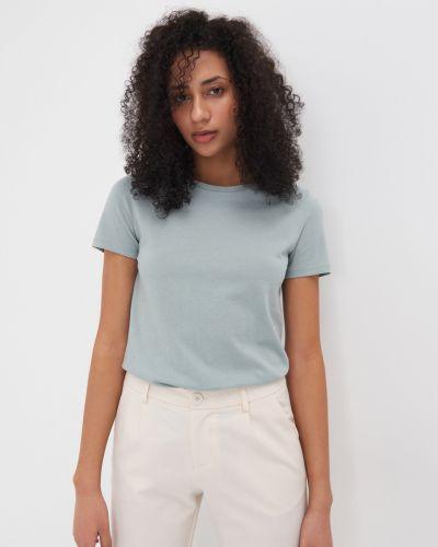 Бирюзовая базовая футболка Sinsay