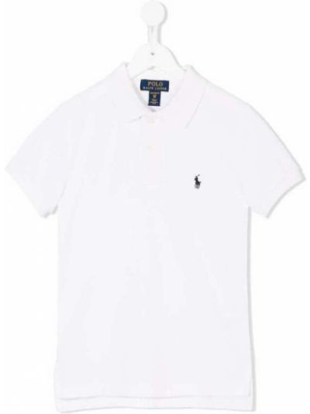 Biała koszulka z haftem Polo Ralph Lauren