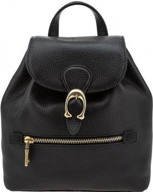 Кожаный рюкзак с откидным клапаном маленький Coach