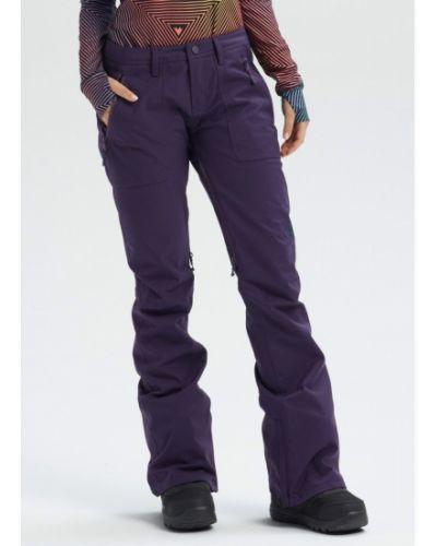 Фиолетовые бархатные брюки сноубордические Burton