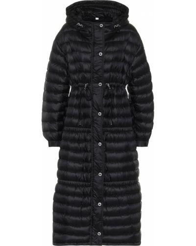 Стеганое черное пуховое стеганое пальто Burberry