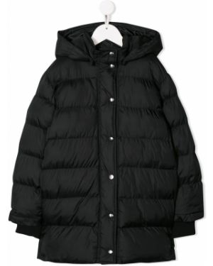 Черное пальто на кнопках Msgm Kids