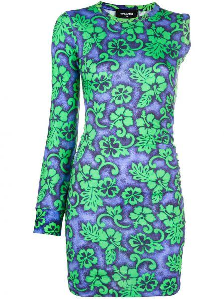 Платье мини макси с цветочным принтом Dsquared2