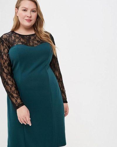 Вечернее платье осеннее зеленый Jp
