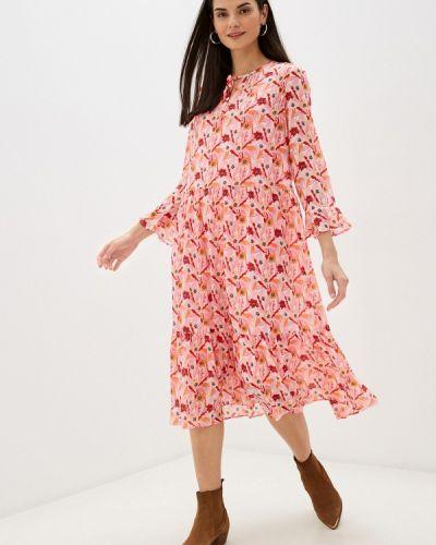 Прямое розовое платье Taifun