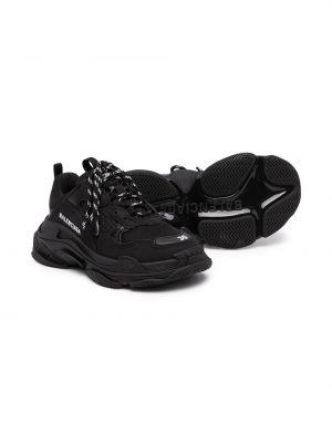 Массивные черные кроссовки на шнуровке Balenciaga Kids