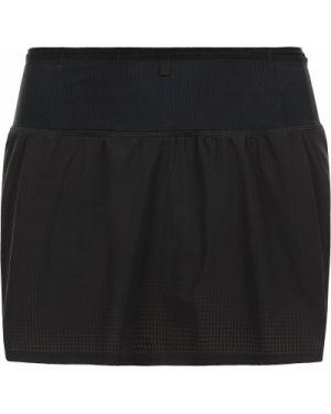 Черная прямая спортивная юбка с подкладкой Salomon