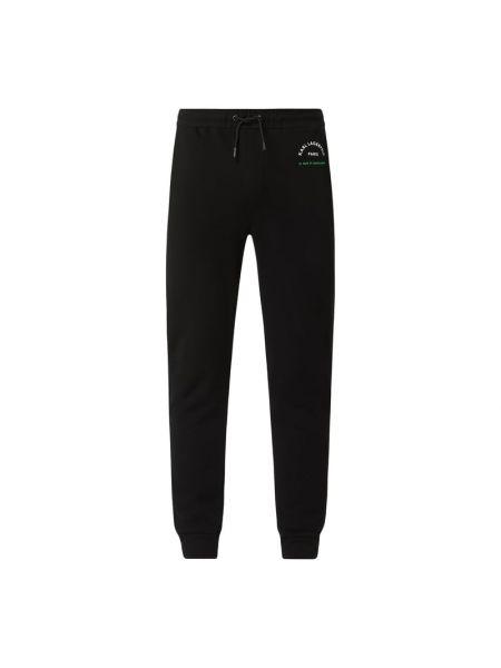 Spodni bawełna czarny spodnie do spodni z kieszeniami Karl Lagerfeld