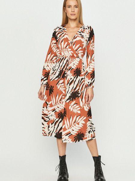 Прямое платье с длинными рукавами с вырезом Roxy