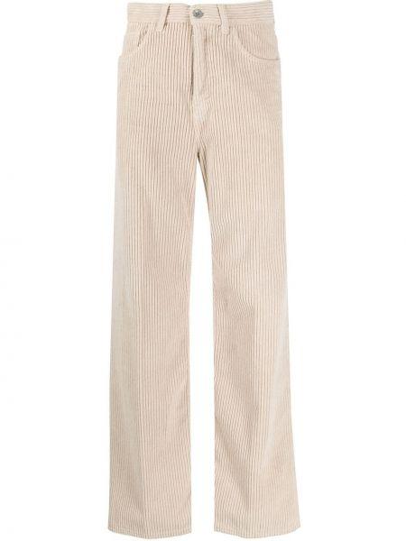 Свободные брюки вельветовые с карманами Haikure