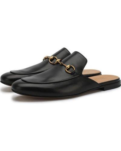 Черное сабо Gucci