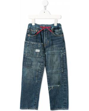Классические хлопковые синие джинсы с поясом Denim Dungaree