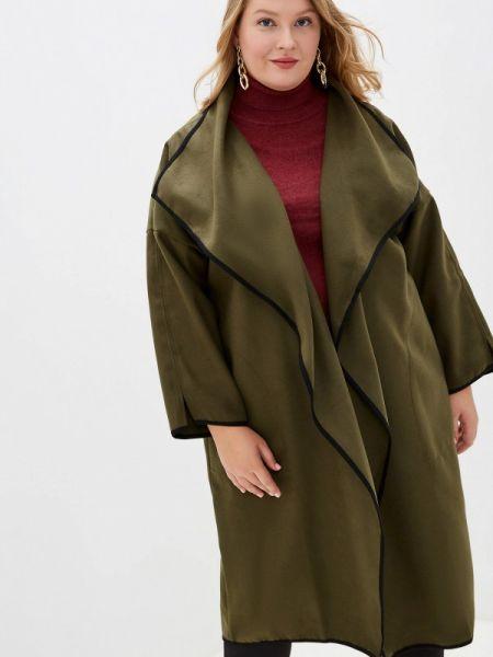 Пальто демисезонное зеленое Артесса