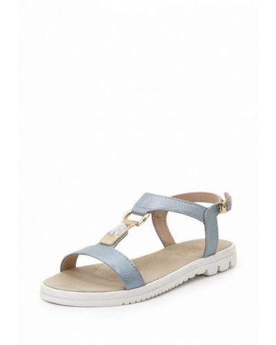Голубые сандалии резиновые Frivoli