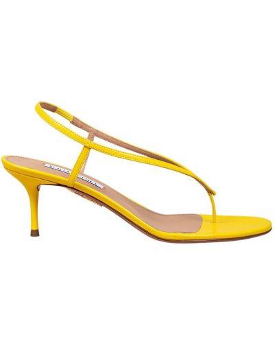 Żółte sandały Aquazzura