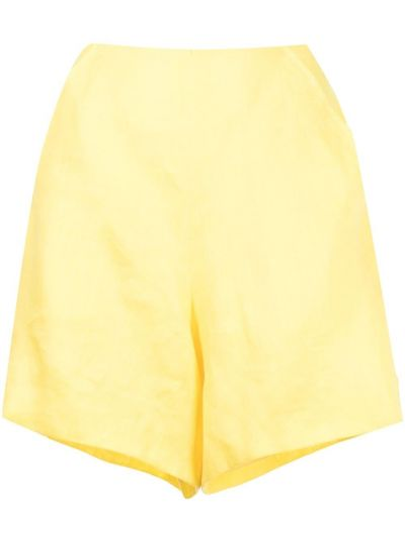 Желтые короткие шорты на молнии Bambah
