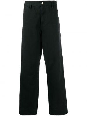 Bawełna czarny jeansy z łatami z kieszeniami Carhartt Wip