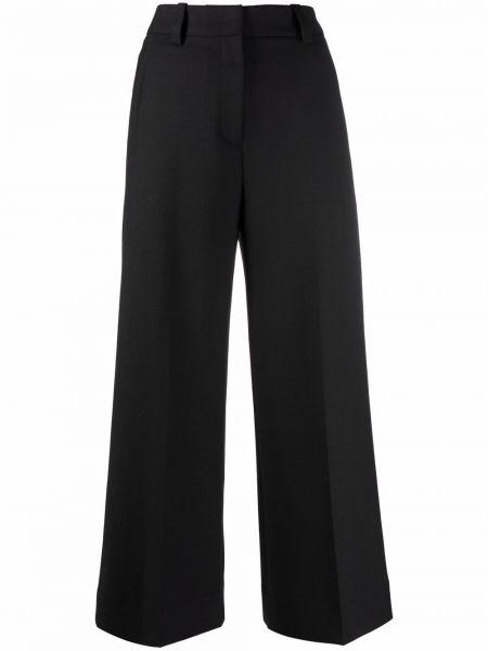 Укороченные брюки - черные Pt01