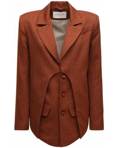 Коричневый пиджак с карманами с отворотом Matériel